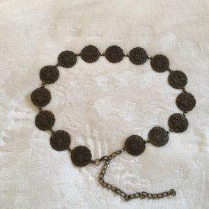BOGO FREE  Gold metal medallion belt